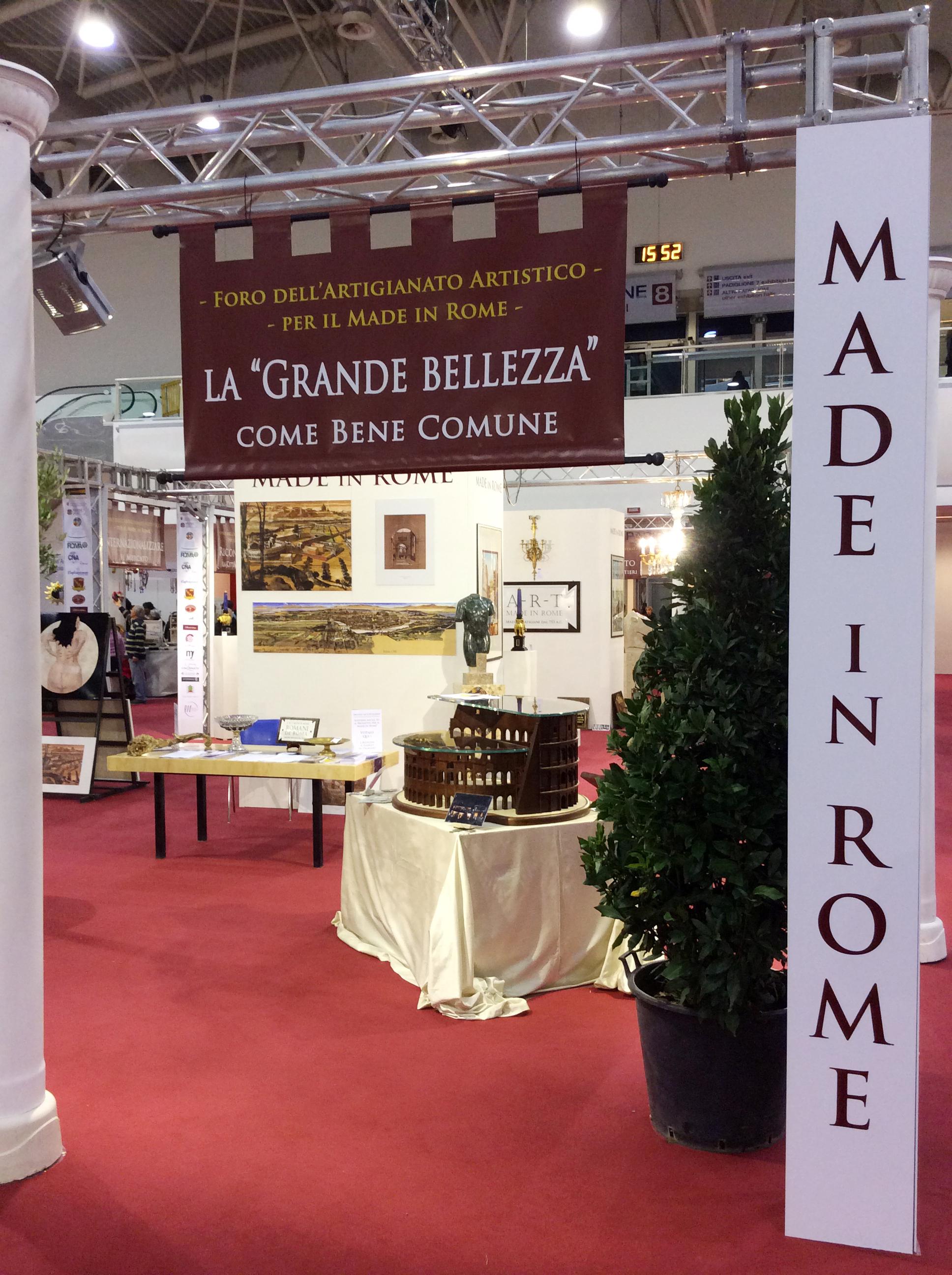 """Foro dell'Artigianato Artistico per il """"Made in Rome"""""""