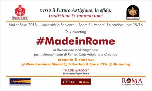 Talk MF15 - Made in Rome, progetto e start up